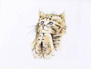 絵画 GW かわいい猫を描いてみませんか♪.png